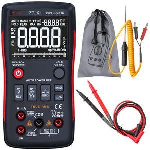 Multímetro digital BSIDE ZT100 True RMS Auto Range Multimetro Voltímetro Amperímetro Capacitancia Temperatura Ohm HZ NCV Tester