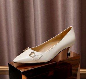 Origianl Kutusu P3 ile 2020 moda Kadın Zumi Rosow Deri Orta Topuk Loafer Pompa ayakkabılar 3 RENKLER