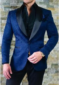 Groomsmen bonito Xaile Lapel Noivo Smoking One Button Men Ternos de Casamento / Prom Melhor Blazer Homem / Noivo (Jacket + Calças)