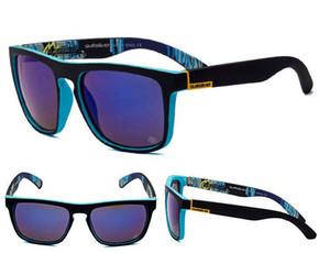 Primera marca gafas de sol mujeres de los hombres unisex QS gafas de sol protección UV400 Gafas Quik deportes al aire libre gafas de sol con la caja de equitación