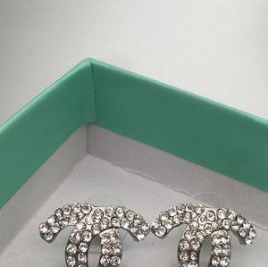 nuovo modo bling bling orecchini gioielli lettere piene del diamante delle donne orecchini gioielli accessori consegna veloce