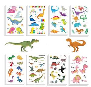 Cool Dinosaur Adesivi per tatuaggi temporanei Bomboniere per feste Goodie Bags Compleanno per bambini Animale del fumetto Impermeabile Tatoo Sticker Decorazione regalo