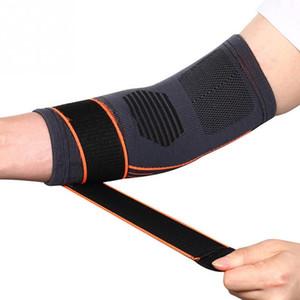 1PCS bandagem elástica Tennis Elbow Protector Suporte de basquetebol que funciona Voleibol de compressão ajustável Elbow Pad Brace