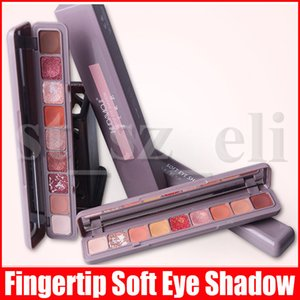 Portátil maquiagem dos olhos na ponta do dedo Eyeshadow Palette macia Sombra Lasting Maquiagem textura lisa Matte Shimmer Glitter 9 cores da sombra