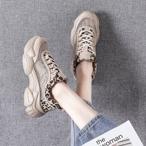 Lucky2019 Exceed Woman Chic Silver Dollar Shoe Lovely Leopard Print Comfortable Outside Clothes Dawdler Half Slipper Women's Shoes Tide