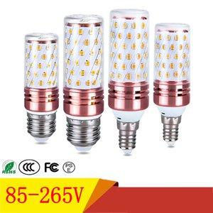 E27 E14 bombillas LED SMD2835 12W 16W LED de luz del maíz de 85-265V Tres conversión del color de la vela llevó las luces para la decoración del hogar