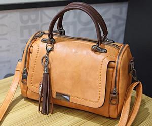 New Designer sauvage de luxe d'une épaule Sac Diagonale Mode Boston Sac Oreiller Designer Sac Portable dames Tassel