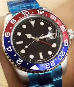 With Original Box High Quality Asia 2813 Movement 40mm GMT Ceramic Bezel 116710 116710blnr Automatic Mechanical Mens Men's Watch Watches