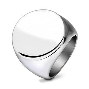Titanium Steel Cluster Rings Европейский и Американский Стиль Полированный Позолоченный Круг Кольца Из Нержавеющей Стали Ювелирные Изделия Оптом LR059