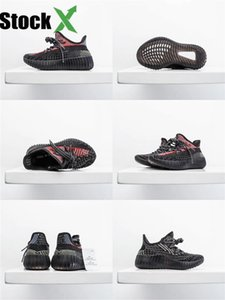 Top Quality Kids Sesame Flax V2 Designer Shoes Kanye West Running Shoes Store With Box Free Shipping Size Us4-13#980