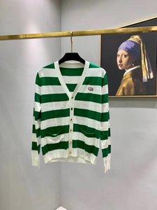 In 2020, the latest fashion mens color stripe sweater, very beautiful design, comfortable warm, mens sweater cardigan designer