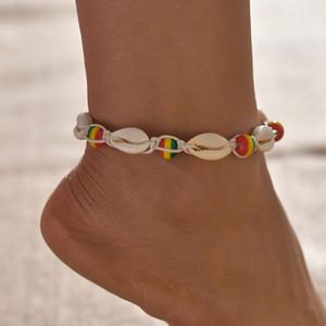 Sea Shell gros Bohème Bijoux Femmes anklet Rocailles chaînes d'été Barefoot Beach Bracelet Bracelets de cheville sur la jambe Boho Bijoux A0129