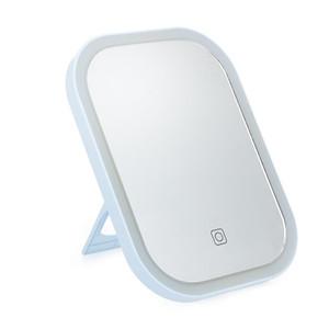 Smart LED Maquillage écran tactile Miroir Portable Vanity Tabletop Dimmable LED Miroir avec 3 niveaux d'éclairage rechargeable Micro USB