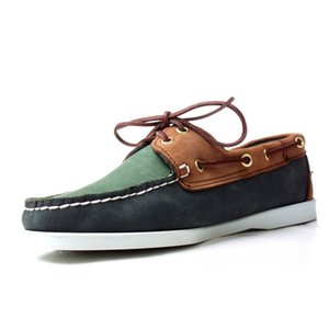 Vintage Mens Suede Leather Moccasin Gommino 2020 New Comfort Flats Driving Shoes Male Lace Up Office Casual Boat Shoes Plus Size