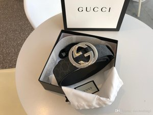 kutu kemerler kadın kemerleri ile altın gümüş toka tuval deri erkek kemer genişliği moda 4,0 cm 411924 Kargo Ücretsiz