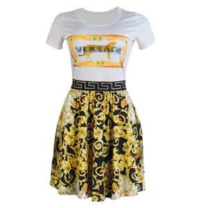 2019 Luxus Designer Womens Kleider Floral gedruckt A-Line Womens Kleider Casual Womens Apparel versandkostenfrei