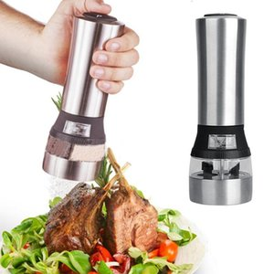Kitchen Cooking Tools 2 EM 1 Sal elétrica e Pepper Mill Saleiro Spice Grinder Spice Mill