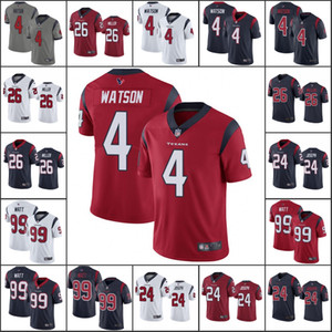 HoustonTexansMen # 4 Deshaun Watson 99 J. J. Watt 24 Johnathan Joseph 26 Lamar Miller Mulheres JuventudeNFL limitada Jersey