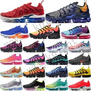 2020 Tn plus Bumblebee Etats-Unis Shark Tooth Run Utility Hommes Femmes Chaussures de course Royal Game Grape Triple FLY TRICOT Sport Entraîneur Sneakers Coussin