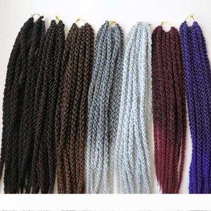 120g 22inch 3D Cubic Twist Синтетические плетение волос крючком плетенки Havana Mambo Сенегальские Twist Наращивание волос больше цветов
