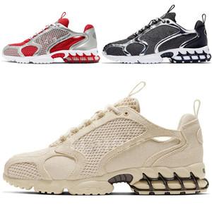 Running Shoes da juventude júnior Zoom Spiridon Caged Homens 2 Sports Trainers trilha Vermelho Bege Moda Athletic Sapatilhas da criança Sapatilhas