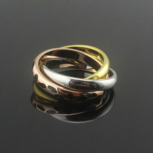 Lover's Wedding Band Titanium Steel Anelli Famous Brand donna uomo gioielli all'ingrosso 3 mix leopard ring