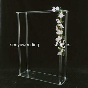 60CM / 120CM طويل القامة) طويل القامة شفافة الزخرفية ترتيب الزهور واضحة زهرة الاكريليك الوقوف لحضور حفل زفاف الجدول محور senyu0348
