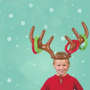 Çocuk Elk en Boynuz kurşun Balon Noel Partisi Şapka Aksesuarlar için Şişme Noel Dekorasyon Noel Şişme Süsleme Hediye