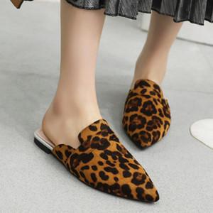 Fanyuan Femmes Sandales Chaussures Mode Serpent imprimé léopard Slipper Chaussures Femme Nouveau design Chaussures Toe POINTES 31-48