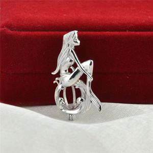 Volendo Pearl Cage apribile Pendant 925 Sterling Silver Jewellery regalo Mermaid sospensione di montaggio per Pearl partito