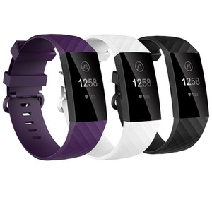 Baaletc Watch Correas de muñeca para Fitbit Charge 3 TPU Reemplazo Bandas Pulsera Para Fitbit Charge 3 con 4pcs Paquete de accesorios