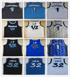 Old Style Stepped Penny 1 Hardaway Jersey 1/2 LP Blau Weiß Schwarz Farbe Basketball Shaquille 32 ONeal O Neal Jerseys College-Shirts
