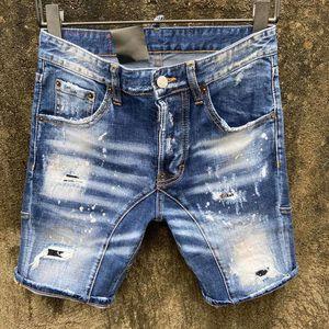 19ss italiano Mens di marca del progettista dei jeans denim shorts foro della vernice Spots Stitching slim-fit jeans casual Leggermente Shorts Moda