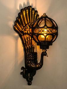 European outdoor wall lamp courtyard outdoor waterproof wall lamp balcony retro villa door garden peacock American wall lamp
