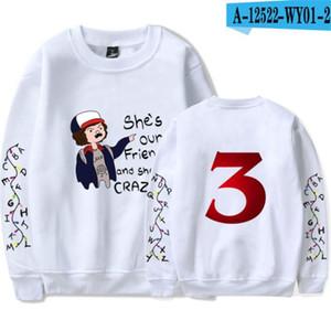 Stranger şeyler Bayan Hoodies 3D baskı Uzun kollu Kapüşonlu Bayanlar tasarımcı tişörtü moda gevşek kadın giyim