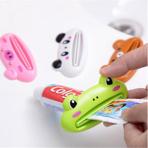 만화 쉬운 치약 디스펜서 홈 튜브 착취 플라스틱 유용한 치약 롤링 홀더 주방 욕실 액세서리