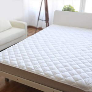 White Quilted Mattress Covers Protector Fitted Sheet Mattress Cover Stretch up for Home Hotel P7Ding