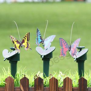 Güneş Enerjisi Dans Uçan Kelebekler çırpınan Titreşim Fly Hummingbird Uçan Kuşlar Bahçe Yard Dekorasyon Komik Oyuncak DBC BH2928