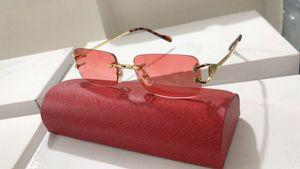 Мужчины Женщины Мода на раме солнцезащитные очки Attitude Rimless Plain очки Оптические очки близорукость очки Рамка óculos