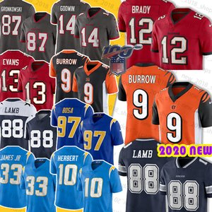 12 Tom Brady Jersey 88 Ceedee Kuzu 9 Joe Burrow 33 Derwin James 13 Mike Evans 14 Chris Godwin 45 Devin Beyaz 97 Joey Bosa 10 Justin Herbert