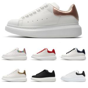 Новый черный белый платформа классический Повседневная обувь повседневная спортивная обувь Мужская женская кроссовки бархат Heelback платье обувь Спорт Tenni
