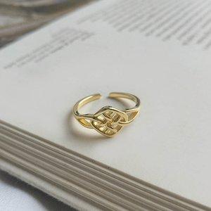Anillos celtas plata esterlina 925 genuinos Nudo del Celtic abren los anillos del amor Nudos ajustable para mujeres Wife hermanas Mom Daughter