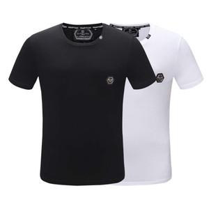 2020ss verano de algodón de alta calidad de la camiseta de la camiseta de las mujeres de lujo de los hombres de manga corta de impresión superior del tamaño del color de la camiseta blanca Negro-m XXXL QP