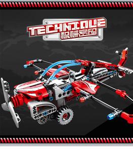 Tire Sembo Bloques mecánico Serie Código Atrás hélice Planeador Puzzle bloques de construcción para niños de los ladrillos bloques del juguete