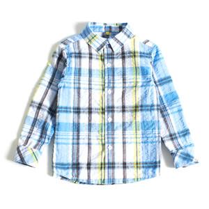 UEP DHERBE BOYS ENFANTS T-SHIRT DE PRINTEMPS 100% coton CHÈQUE CRINKLE TISSU YD BOUTONNÉ SHIRT POUR BOYS SLIM SHIRT