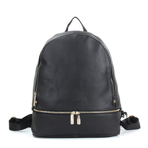 kadın bayan kız tasarımcısı pu siyah marka tasarımı daha küçük sırt çantaları okul çantaları