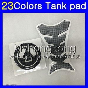 Fibra del carbón 3D del cojín del tanque para Kawasaki ZZR600 05 06 07 08 ZZR 600 2005 2006 2007 2008 05-08 MY31 Gas Tapa del tanque Protector de etiquetas de pegatina