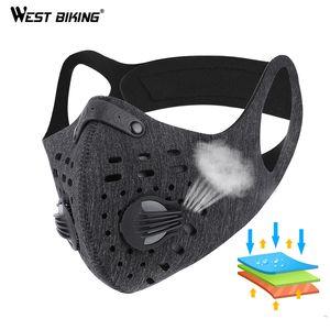 West biking deporte Cara máscara con filtro de carbón activado PM 2.5 anti-contaminación Correr entrenamiento MTB Road Bike Ciclismo máscara