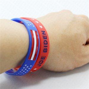 Trump 2020 pulseira de silicone Joe Biden EUA Letters imprimir Pulseira Esporte Bangle Amercia eleição geral Trump Supporter Pulseiras D61811