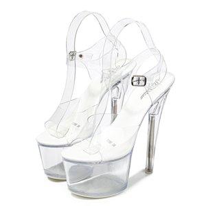 Mclubgirl 34-43 New Heels Nightclub High Heels Shoes Luminous Sandals Shoes Catwalk Pole Dancing Shoes Crystal Bottom LFD
